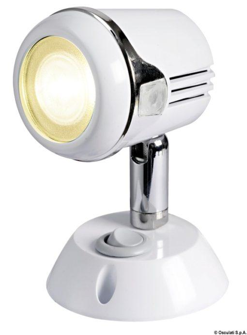 Articulated HI-POWER LED white spotlight 12/24 V - Code 13.896.01 3