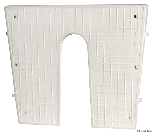 Stern protection plate RAL 9010 42 x 34 cm - Code 47.764.95 4