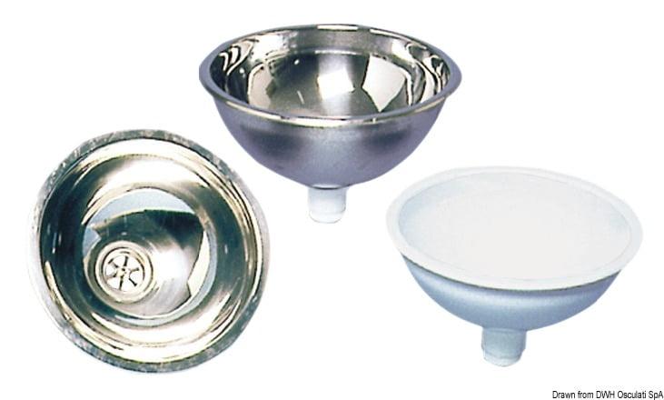 Osculati Stainless Steel Hemispheric Sink 260x125mm