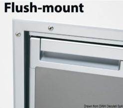 Flush mount frame for Coolmatic CR50S Inox fridge - Code 50.906.03 5