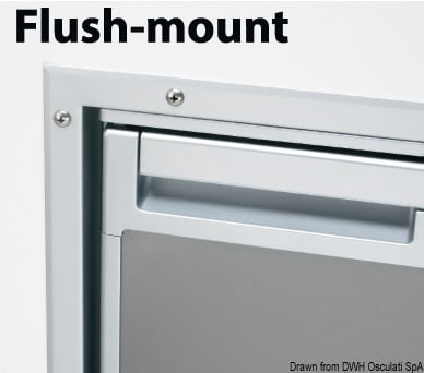 Flush mount frame for Coolmatic CR50S Inox fridge - Code 50.906.03 4
