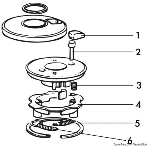 SPRING TOP CAP ASSY - Code 68.955.04 3