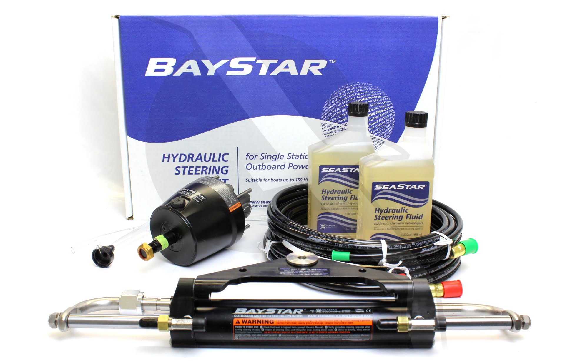 sailormall boat accessories, worldwide shipping baystar premiumbaystar premium hydraulic steering for outboard engines