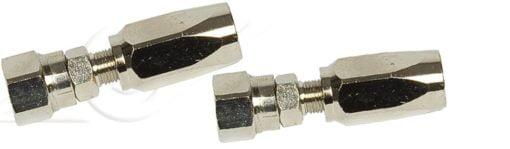 Reusable fittings in chromed brass for 5/16'' hose (kit 4 pcs.) 2