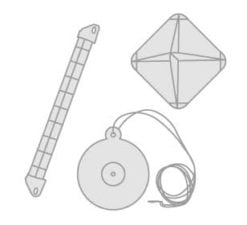 32 - Radar reflectors- first aid kit cases- floating anchors