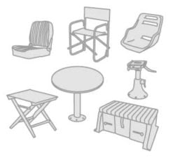 48 - Seats- tables- table legs- A-Frames and object-holders