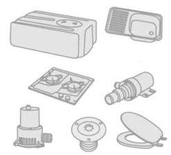 50 - Wash basins- stoves- refrigerators- toilet units