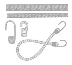 63 - Bungees- sail ties- fixing straps