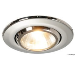 Metal spotlights and ceiling lights
