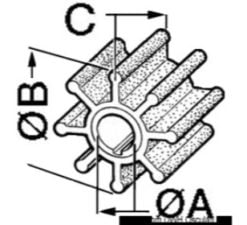 Impellers for outboard engines